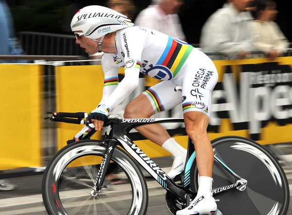 Tony Martin rode a steady race to take 5th, also five-seconds down...
