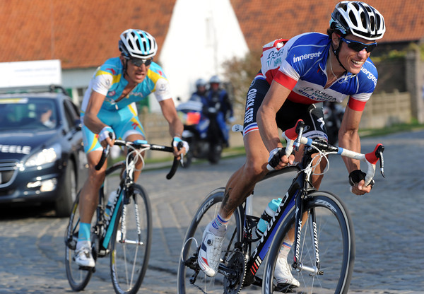 Sylvain Chavanel has forged a new escape with Dmitri Muravyev with about 20-kilometres to go...