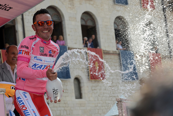 Joachim Rodriguez becomes the new race-leader of the Giro - and he could be there for quite a while yet..!