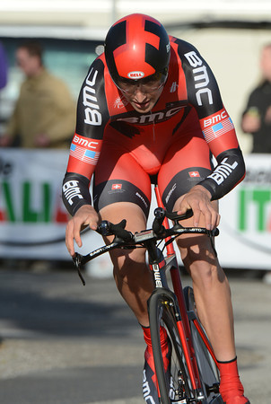 Look, no hands! But Taylor Phinney's legs propelled him to first place in Herning at a speed of 50.031-kilometres-per-hour..!