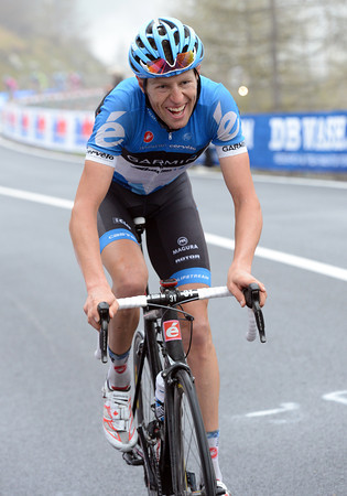 Hesjedal has the look of a man determined to win back the Maglia Rosa today...