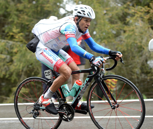 Jose Rujano has come out of retirment again - and he's attacked from the peloton..!