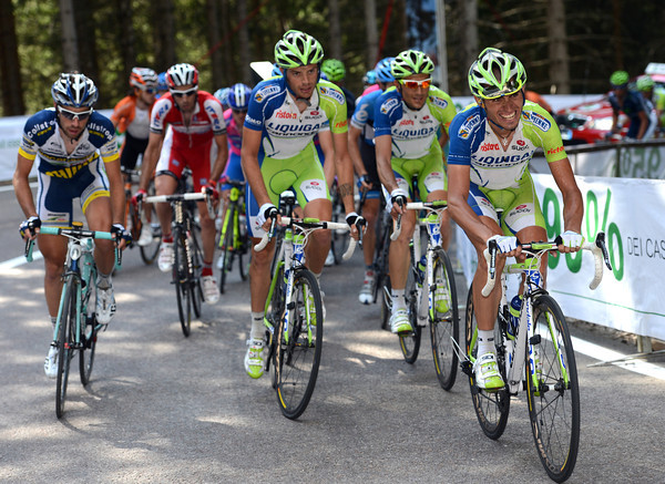 Liquigas is chasing harder, but the strain is beginning to show on their faces...