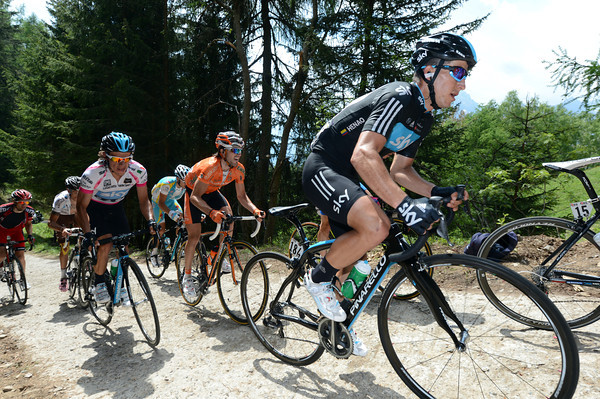 Colombia's Sky 'twins', Henao and Uran, seem set for a great day once the road gets better..!