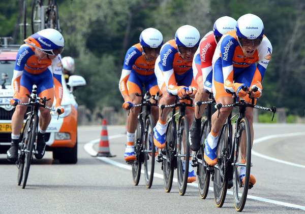 "Team Rabobank took 15th place at 1' 01""..."