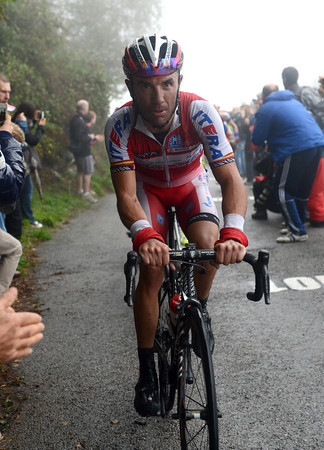 Rodrguez follows Bardet to the summit about one-minute later - well ahead of all the other favourites...