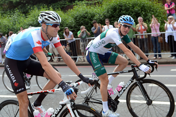 Ryder Hesjedal and Dan Martin get to know each other as rivals instead of trade teamates in the opening kilometres...