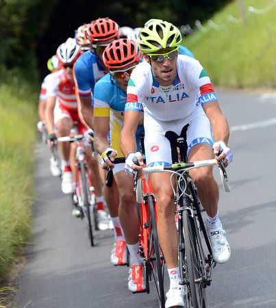 Nibali has gone away again in a bigger move that will catch the original escape with a few laps remaining...