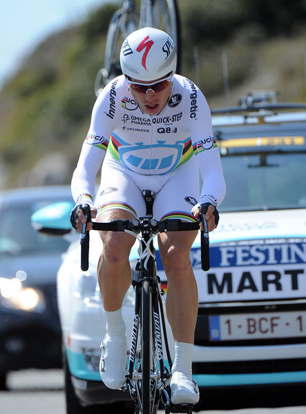 """Winner of Paris-Nice in 2011, Tony Martin took a shadowy 25th place, 1' 37"""" behind today..."""