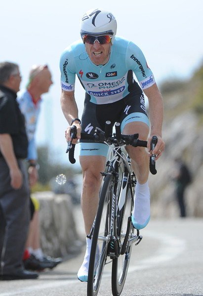 """Levi Leipheimer managed to pedal his bruised and battered body to 22nd place, 1' 33"""" behind the winner..."""