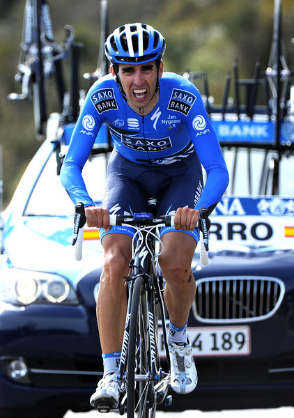 """Danny Navarro put Saxo Bank into the limelight by taking 11th place, 1' 06"""" down..."""