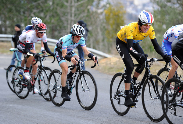 Is that a laugh or a grimace on Wiggins' face with one-kilometre to go..!?