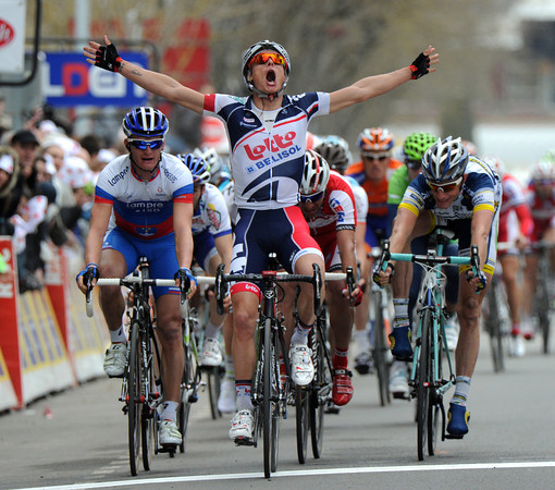 Gianni Meersman wins stage four into Rodez after Kloden was caught in the last-kilometre...