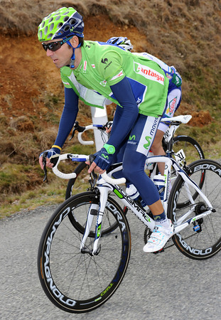 Alejandro Valverde must be a favourite for today's gradual uphill finish...