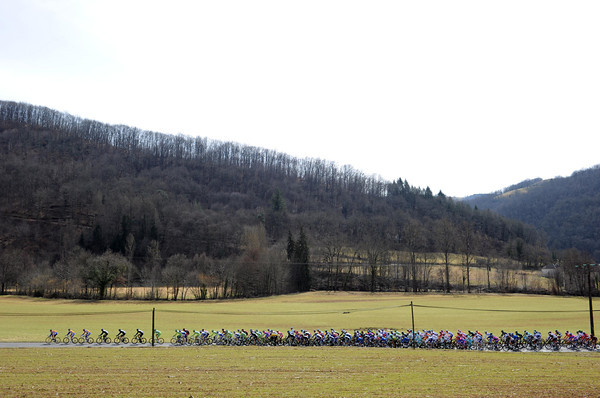 No longer winter, but not yet summer, the peloton enjoys a spin across the French countryside...