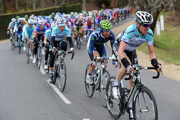 Omega leads the peloton in the last eight-kilometres - but is it for Tom Boonen or Levi Leipheimer..?