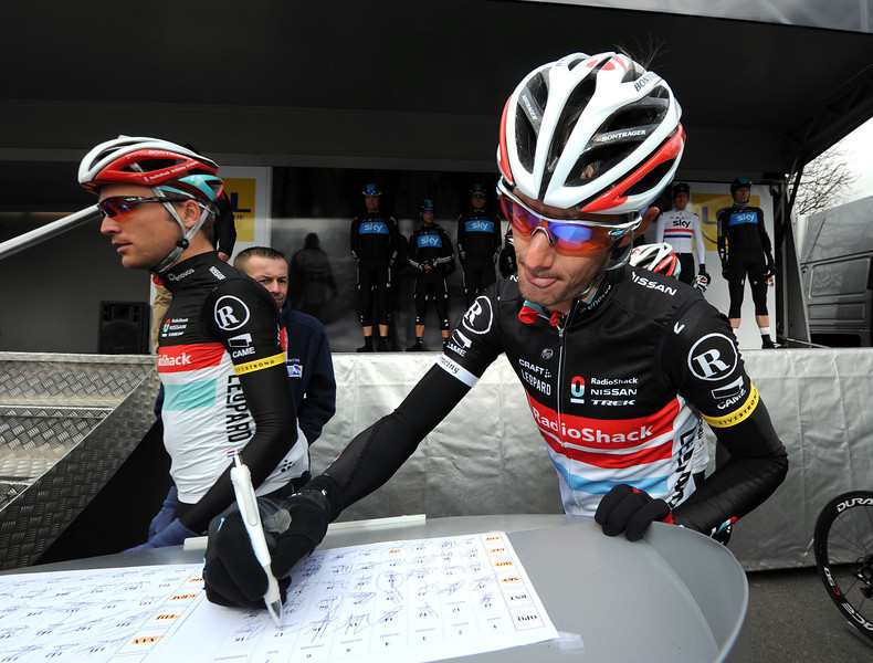 Frank Schleck signs-on for another day in the saddle - but this will not be just any old day...