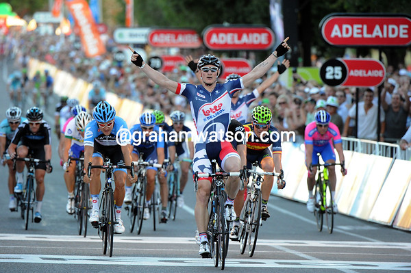 Andre Greipel wins the Tour Down Under Classic - Happy New Year..!