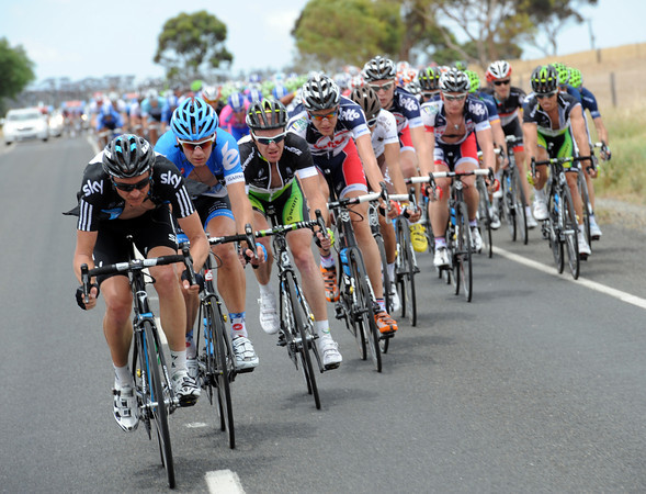 All the sprinters' teams are chasing now - and it's Pate who leads the way for Team Sky...