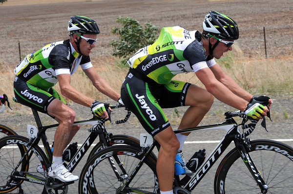 Leigh Howard and Stuart O'Grady are riding at their utmost for Green Edge...