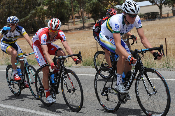 Rohan Dennis is leading the escape towards its greatest lead of 11-minutes...