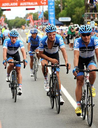 Garmin bring Haussler to the finish, but his arm is damaged after a last-kilometre crash...
