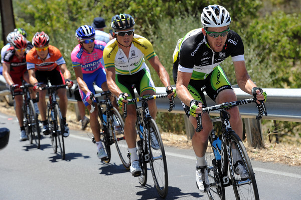 Matthew Goss has become a climber and paces Simon Gerrans as the rest of Green Edge fade...