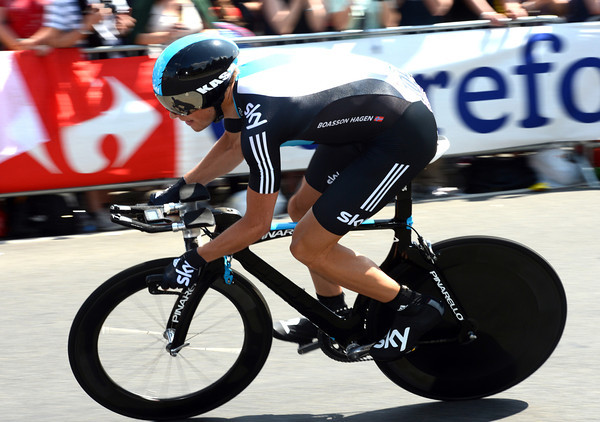 Edvald Boasson Hagen went fastest too, then settled for 5th place, eleven seconds down...