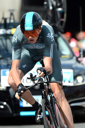 Christopher Froome started his first-ever Tour by taking 11th, 16-seconds down...
