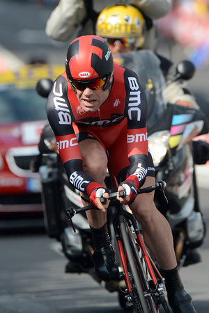 Cadel Evans took a decent 13th place at 17-seconds...
