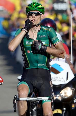 Pierre Rolland wins stage eleven, despite crashing on the Mollard descent...