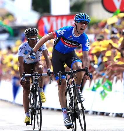 David Millar wins stage twelve after attacking and then out-sprinting Peraud...