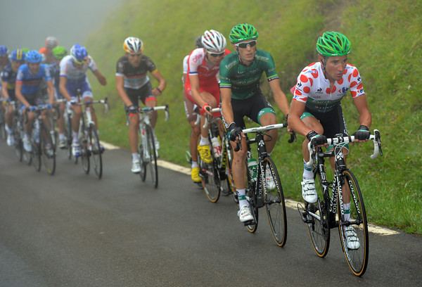 Thomas Voeckler starts today where he left off yesterday - by escaping, this time on the Col de Mente...