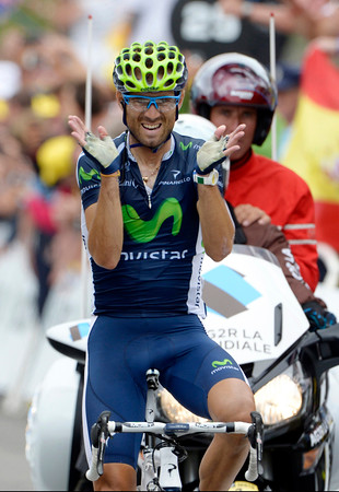 Alejandro Valverde wins stage seventeen to cement his comeback after a two-year suspension...