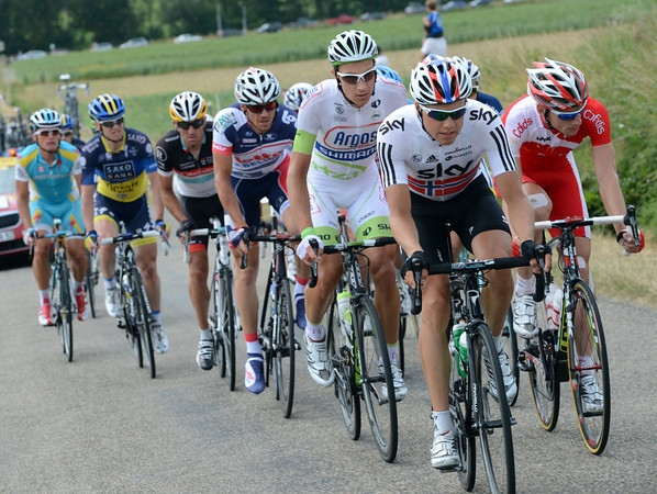 Edvald Boasson Hagen leads the escape to a three-minute lead - is this another successful Sky move..?