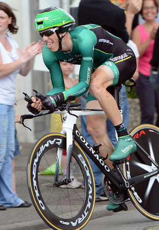 """Pierre Rolland is best-placed Frenchman overall, in 8th place - he was 64th at 6' 15"""" today..."""