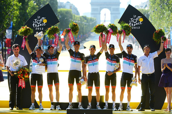 Radio Shack celebrate winning the team classification, again..!