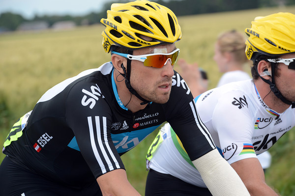 Bernhard Eisel is sporting a cut forehead and a mild headache today...