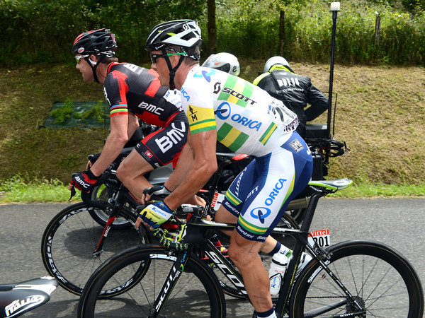 Simon Gerrans has a lot to talk to Cadel Evans about - the climbing starts tomorrow..!