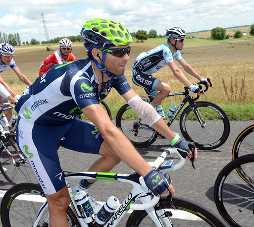 Alejandro Valverde fell twice yesterday...