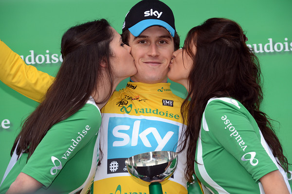 Geraint Thomas wins the kisses and the Yellow Jersey in Lausanne - but a difficult week lies ahead...