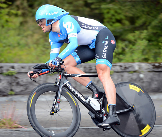 Alex Rasmussen took 10th place at 8.05 seconds - despite racing on wet roads...