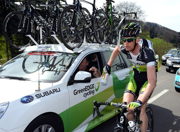 Tpur and Giro stage-winner Peter Weening is earning his spurs with Green Edge in 2012...