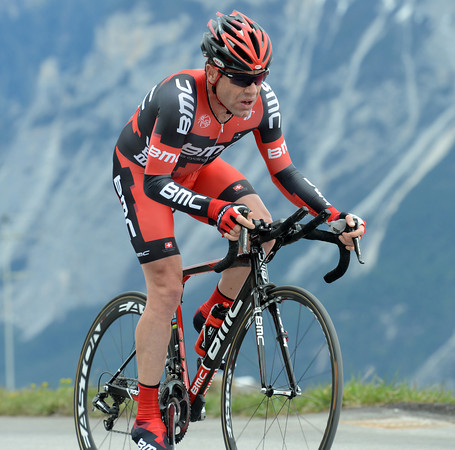 """Looking good but a long way off his best form, Cadel Evans took 40th place at 1'45""""..."""