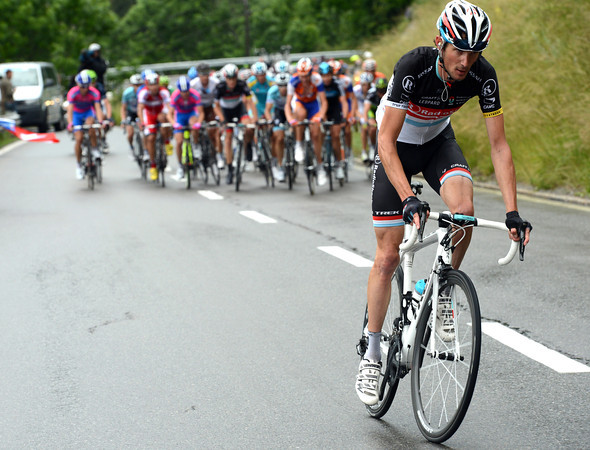 Frank Schleck now attacks and seems to have made the winning move...