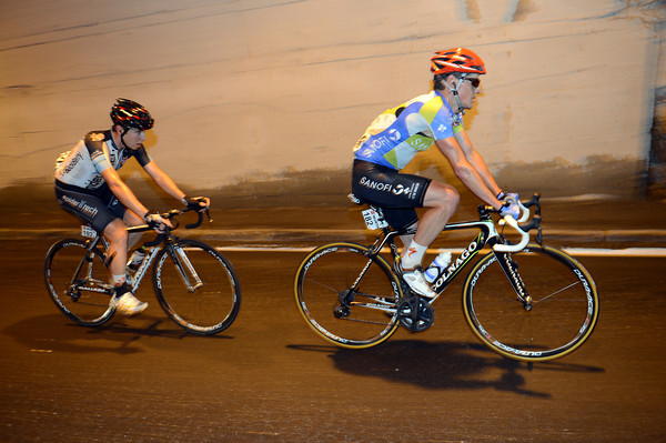 Bazzana leads Anderson through one of many tunnels on the Simplon Pass...