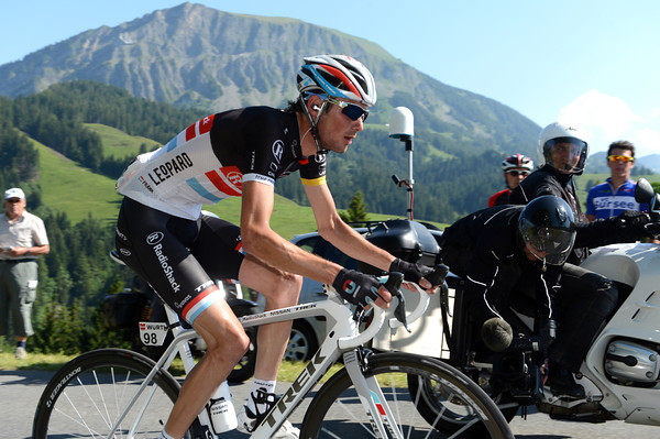Schleck has pulled away to the tune of 50-seconds, but it won't be enough...