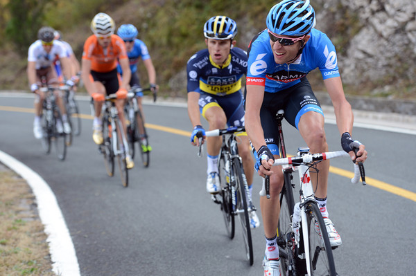 Hesjedal has split the front group even more - he has Poland's new star, Rafal Majka, with him