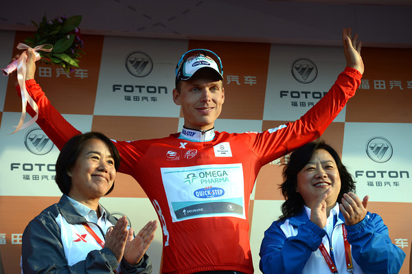 Tony Martin wears the race-leader's jersey - he'll be a hard man to beat now...