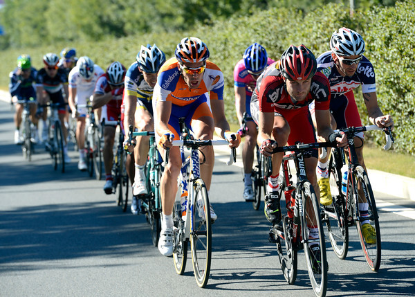 Steve Cummings leads an escape of twelve riders away, but it's taken almost two hours to achieve..!